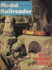 VINTAGE MODEL RAILROADER MAGAZINE TRAINS APRIL 1965