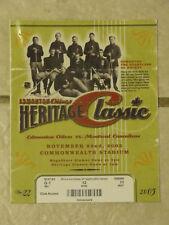 2003 NHL 1st Heritage Classic. Ticket, program, etc.