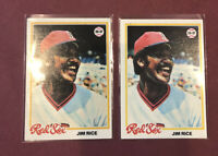 1978 TOPPS BASEBALL - JIM RICE #670 ~ Lot of (2) **FREE SHIPPING**