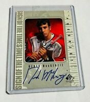DEREK MACKENZIE - 1998-99 SP AUTHENTIC - SIGN OF THE TIMES - AUTOGRAPH