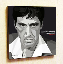 Tony Montana Painting Decor Print Wall Art Poster Pop Canvas Quotes Decals