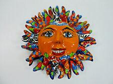 TALAVERA SUN  Dolores Hidalgo   colorful ceramic   mexican pottery   folk art