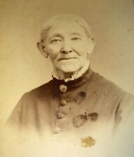 Antique Very Old Victorian Woman! W/ Death Time & Date! Mourning Cabinet Photo!