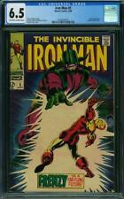 Iron Man # 5 CGC 6.5 -- 1968 -- Tuska cover. Cerebrus. #0359528010