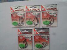 """LOT DE 5 POCHETTES D'HAMECONS """"MARUTO"""" inox 3/0 NEUF"""