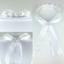 Headpiece Headband Halo Wedding Flower Girl Easter ALL SIZES Bridesmaid Wreath