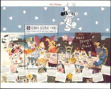 Sierra Leone 1991 Disney/Alice/Christmas Cards/Cartoons/Animation 1v m/s ad1161