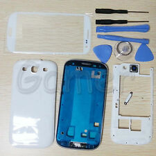 Full Housing Case + Screen Glass Lens + Tools For Samsung Galaxy S3 i9300 White