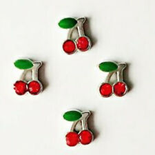 4PCS Silver cherry floating charm DIY for glass living memory lockets  A37