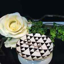Black Triangle Round Mini Dish Jewellery Ring Holder Mother's Day Gift For Her