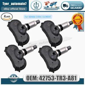 4PCS Tire Pressure Sensor TPMS For HONDA CIVIC/ For/ ELEMENT 42753-TR3-A81