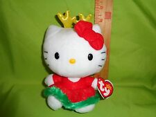 Hello Kitty Christmas WITH REINDEER EARS TY Beanie Babies Stuffed Plush Toy