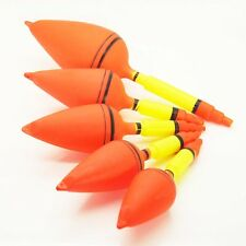 #6 5Pcs/Lot Hard Plastic Big Game Bright Orange Color Fishing Float Bobber,New
