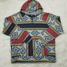 Brooklyn Cloth Trademark Mens Aztec Print Hoodie Sweatshirt 2XL  Festival Tribal
