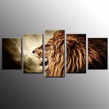 Ainmal canvas Art Print Wall Art Canvas Painting Picture Home Decor Lion-5pcs