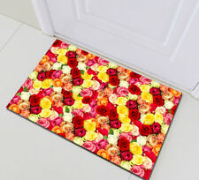 Home Bath Mat Bedroom Floor Rug Kitchen Carpet Colorful Roses Romantic Valentine