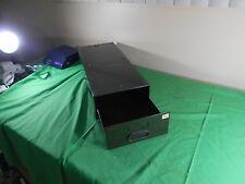 Vintage Steel GREEN STEAMPUNK Industrial Metal Card File Cabinet One Drawer (2)