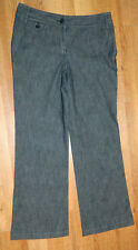 Womens Talbots Brand Gray Casual Signature Flare Leg Jeans size 4P / 30x29