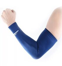 COOLOMG Anti-Slip Arm Sleeves Cover Skin Protection, Navy/Blue, XL