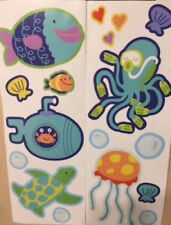 UNDER THE SEA wall stickers 17 colorful decals Nursery decor fish turtle sub