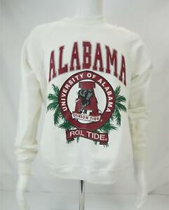 VTG Lee University Of Alabama Roll Tide Sweatshirt Made in USA White Men's Large