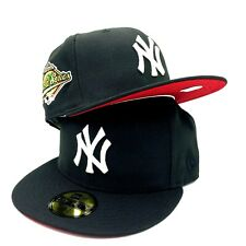 New York Yankees 1996 World Series New Era 59FIFTY Fitted Black Hat Red Bottom