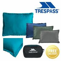 Trespass Travel Pillow Camping Flight Plane Soft Packaway Cushion Snoozefest