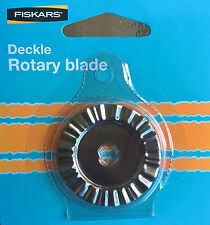 Fiskars 45mm Rotary blade--- Fiskars Deckle - Model 9353 ** Free Postage **