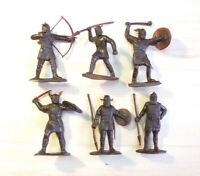 Vintage Soviet Russian USSR Plastic Soldier Vintage Toy VIKINGS 6pcs Knights