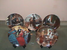 Vintage Knowles Set Of 5 Lincoln ,Man Of America Collectible
