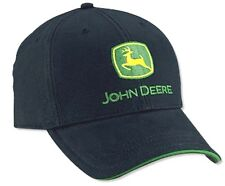 NEW John Deere FITTED Black Cap, Structured with Stretch-Fit Band LP14439