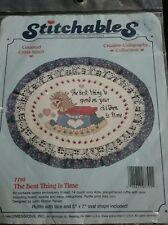 Stitchables Counted Cross Stitch Kit 7792 The Best Thing is Time Rocking Horse