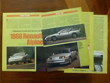 1988 Renault Alpine GTA Turbo Le Mans A310 A610 Motor Trend magazine article