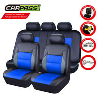 Universal Car Seat Covers Airbag PU Leather 40/60 50/50 60/40 Front Rear for van