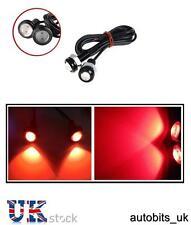 2 X 10w Led Rojo Eagle Eye Luz coche Drl Niebla Daytime Cola De Respaldo Trasero señal Nuevo