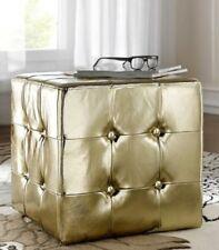 Sitzwürfel Sitzhocker Kunstleder Hocker Dekohocker Farbe: Gold