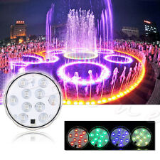4x 10 LED Waterproof Light RGB Submersible lamp for Vase Wedding Party Fish Tank