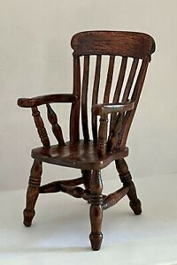 1:24 Scale Dolls House Artisan Made Miniature Windsor Chair signed David Booth