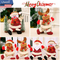 Santa Claus Snowman Deer Doll Xmas Tree Hanging Decor Gift Christmas Ornament