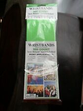 Wristbands 500 Secure Waterproof  Sequentially Numbered - Neon Green - New