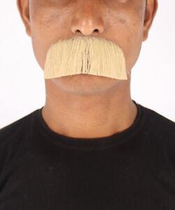 HPO Men's Human Hair Mustache Cosplay Facial Hair M-1255
