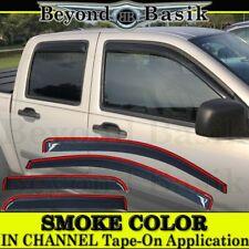 2004-2010 2011 2012 CHEVY Colorado Crew Cab SMOKE IN CHANNEL Door Window Visors