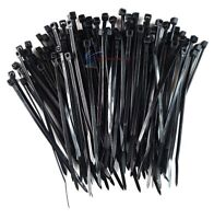 "500 Pcs 4"" Heavy Duty Black Nylon Cable Zip Wire Ties 18 Lbs Tensile Strength"