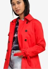 JACK WILLS Dollyhill Swing LADIES Trench Coat in Red Size 10 BNWT Rrp £110