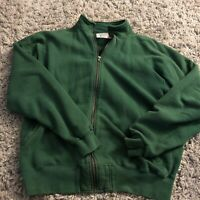 Vintage L.L BEAN Russell Crewnec Sweatshirt Side Pockets Large Green Made In USA