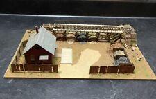 BUILT WOODEN HO SCALE MATERIAL YARD GRAVEL YARD BUILDING DIORAMA