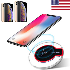 US Qi Wireless Fast Charger Charging Dock for iPhoneX/8 XS MAX Galaxy Note8 S9 +