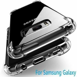 For Samsung Galaxy S21 A72 S10 Note 10 A51 A71 S20 Clear Shockproof Cover Case