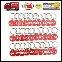 Cosmos Pack of 30 Numbered Tags Metal Key Ring for Organizing and Sorting,...