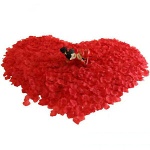 Valentine's Day Beautiful Silk Flower Leaves Rose Artificial Petals Party Decor